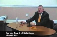 Carver Board of Selectmen -2016/02/09