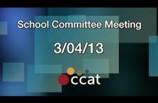 Carver School Committee Meeting – March 4, 2013