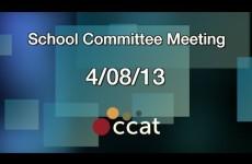 Carver School Committee Meeting 2013/04/08