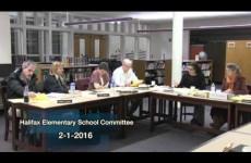 Halifax Elementary School Committee -2016/02/01