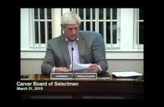 Carver Board of Selectmen 2016/03/31