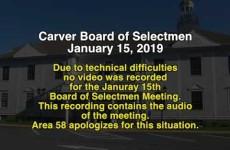 Carver Board of Selectmen 2019/01/15