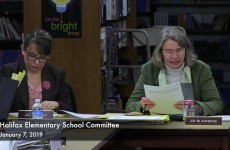 Halifax Elementary School Committee Meeting 2019/01/07