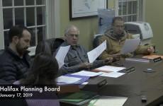 Halifax Planning Board 2019/01/17