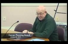 Carver Planning Board 2019/01/22