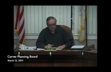Carver Planning Board 2019/03/12