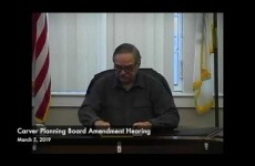 Carver Planning Board Amendment Hearing 2019/03/05