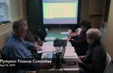 Plympton Finance Committee 2019/04/08