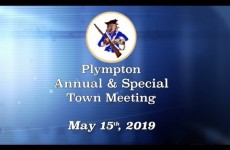 Plympton Annual & Special Town Meeting 2019/05/15