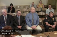 Halifax Board of Selectmen 2019/08/13
