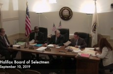 Halifax Board of Selectmen 2019/09/10